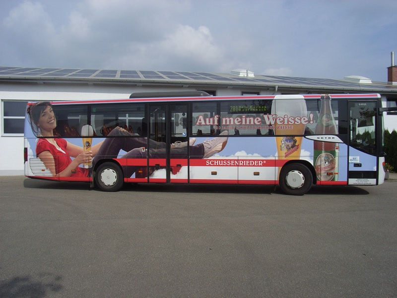 Verkehrsmittelwerbung Diesch Busreisen